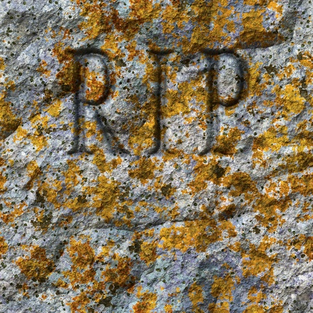 An image of a stone texture with RIP photo