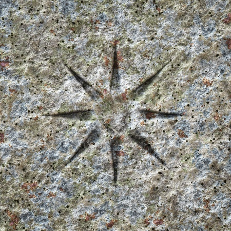 An image of a stone texture with a star photo