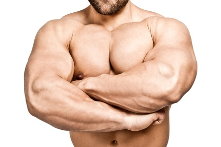 muscular body: An image of a handsome young muscular sports man Stock Photo