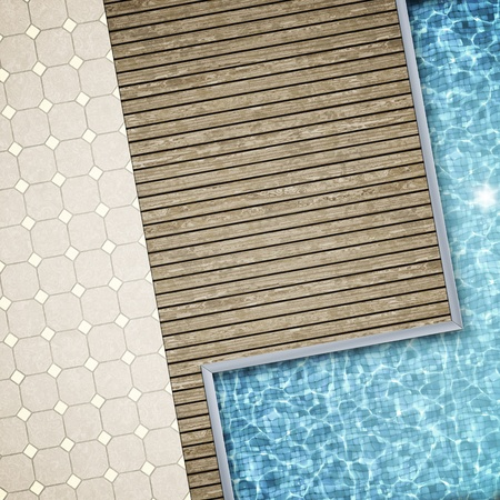 natural pool: An image of a beautiful pool background Stock Photo