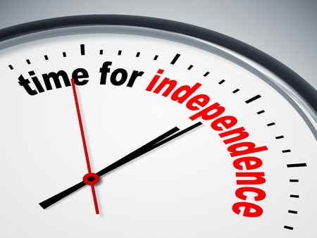 new start: An image of a nice clock with time for independence