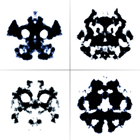 An image of the Rorschach test ink blots photo