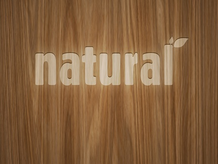 vandalize: A beautiful wooden background with the word natural Stock Photo