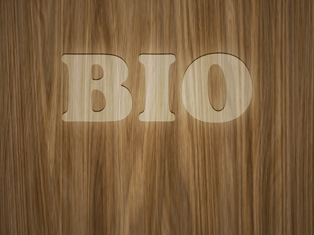 vandalize: A beautiful wooden background with the word bio