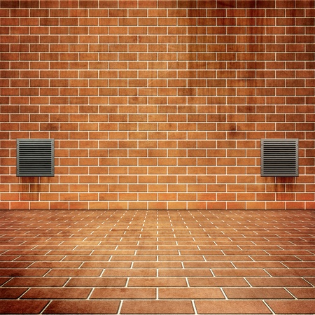 a nice red bricks background for your content photo
