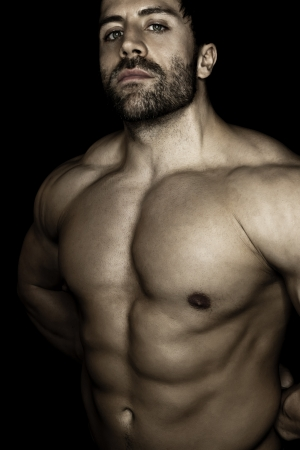 An image of a handsome young muscular sports man photo
