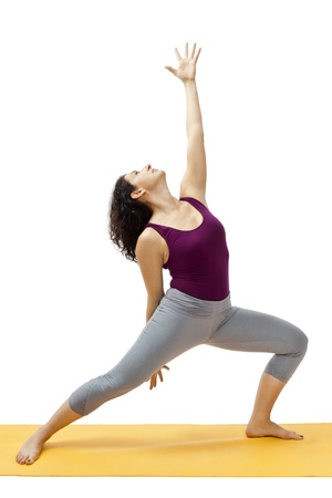 An image of a pretty woman doing yoga photo