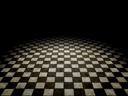 An image of a black and white tiles background Stock Photo