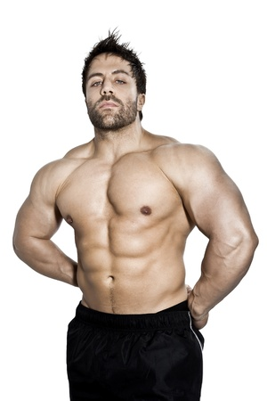 An image of a handsome young muscular sports man Stock Photo - 12084743