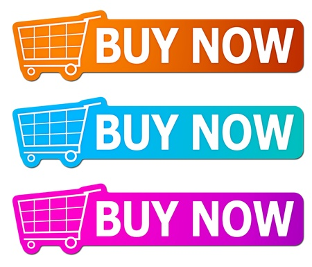 add text: Three buy now signs with clipping path