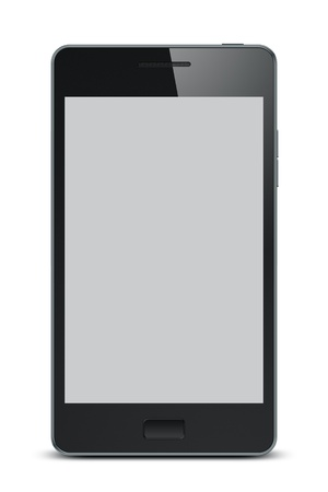 portable mp3 player: An image of a smart phone with clipping path