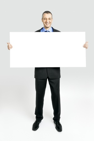 A handsome business man with a white background photo