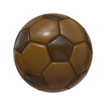 An image of an isolated soccer ball chocolate photo
