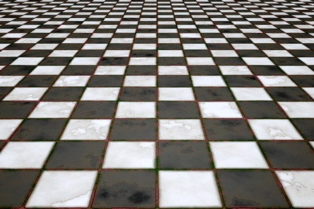 An image of a black and white tiles background Stock Photo - 12397530