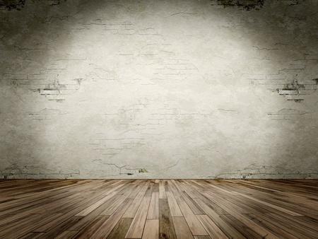 piso piedra: Una imagen de una sala de grunge con un punto de luz Foto de archivo
