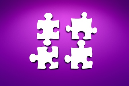 gallerie: some blank jigsaw puzzle on the wall background