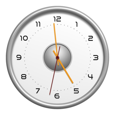 beat the clock: An image of a typical clock isolated on white