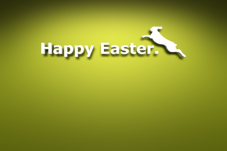 Happy Easter on the green wall background photo
