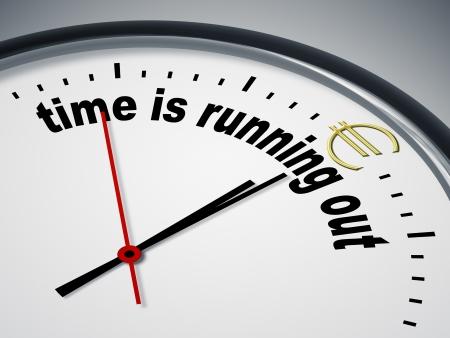 zeitarbeit: Ein Bild von einer sch�nen Uhr mit Zeit l�uft ab f�r Euro