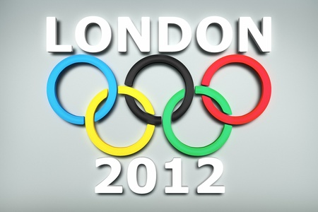A modern 3d illustration for the Olympic Games in London 2012