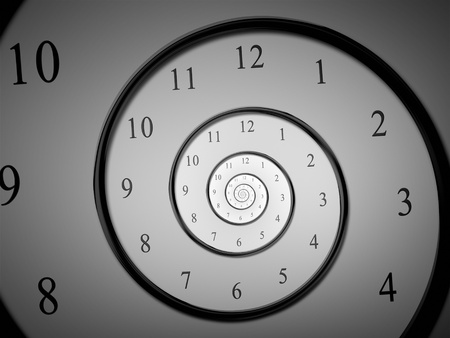 An image of a dark droste time spiral photo