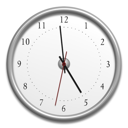 An image of a typical clock isolated on white Stock Photo - 12704063