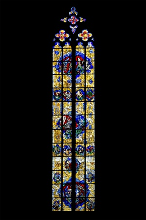 An image of a gothic church window in Germany Ulm