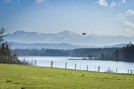 An image of a nice and typical bavarian landscape Stock Photo - 12990163