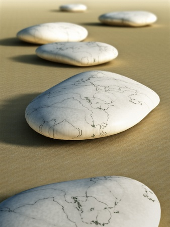 An image of some nice stones in the sand photo