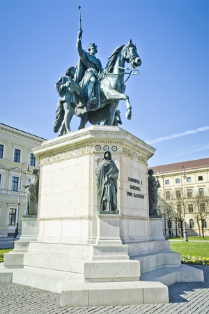 ludwig: An image of the King Ludwig I statue in Munich Germany