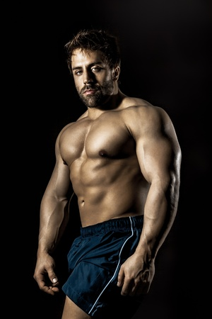 An image of a handsome young muscular sports man Stock Photo - 13120760