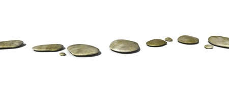An image of some step stones on white background Stock Photo - 13162748