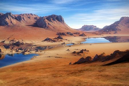 Algeria: An image of a nice desert scenery Stock Photo