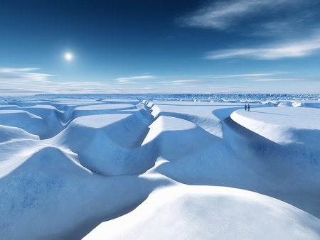 An image of the icy landscape at the north pole Stock Photo