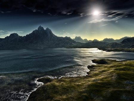 greatness: An image of a dark fantasy landscape