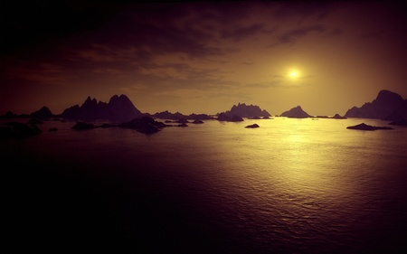 solitariness: An image of a nice dark fantasy landscape