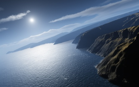 desolation: An image of a nice ocean view Stock Photo