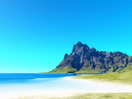 An image of a nice beach scenery background photo