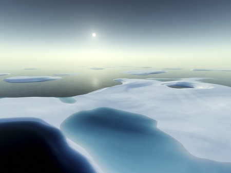 arctic landscape: An image of a nice north pole scenery Stock Photo