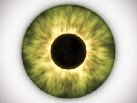 Una imagen de un ojo verde agradable Foto de archivo
