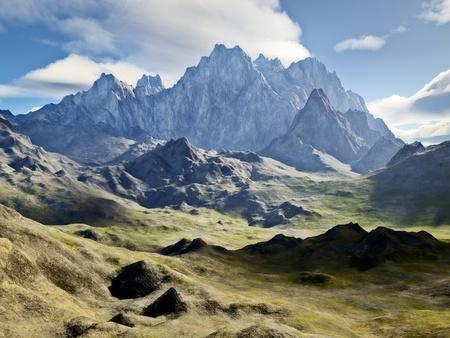 over the hill: Una imagen de una monta�a grande y bonita Foto de archivo