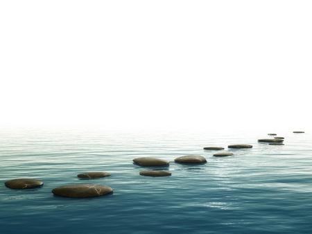 Een achtergrond afbeelding met een aantal leuke stap stenen op de bodem Stockfoto