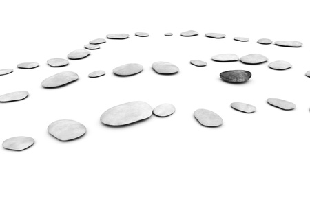 An image of some nice pabbles on a white background Stock Photo - 13341871