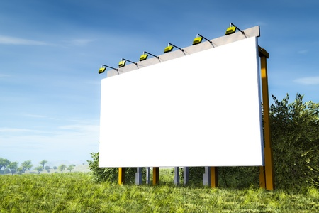 An image of an advertising wall in the green nature photo