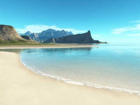 An image of a beach scenery background photo