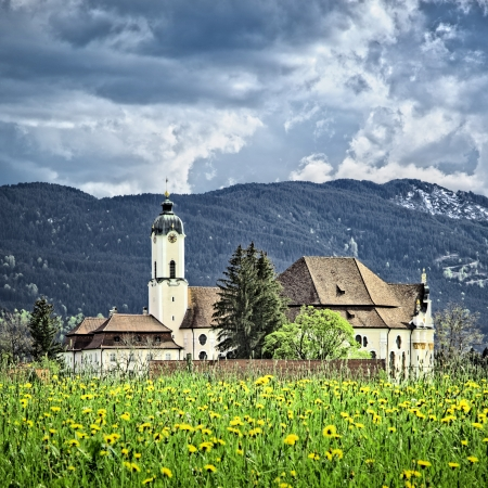 An image of the famous Wieskirche in Bavaria Germany photo