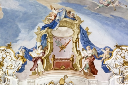catholic angel: An image of the famous Wieskirche in Bavaria Germany