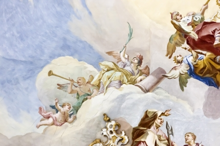 fresco: An image of the famous Wieskirche in Bavaria Germany