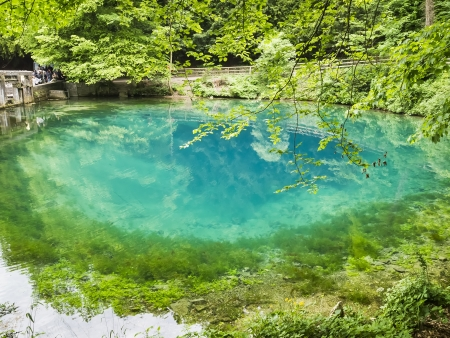 An image of the beautiful Blautopf at Blaubeuren Germany Stock Photo - 13823160