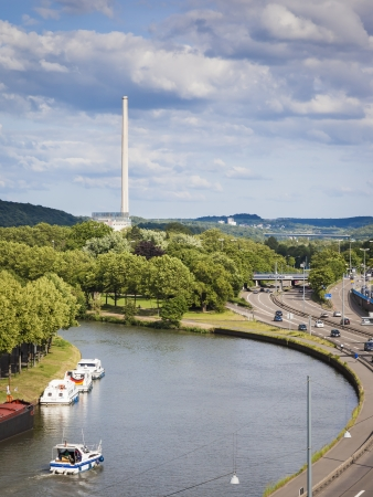 saar: An image of the power-plant in Saarbruecken Germany